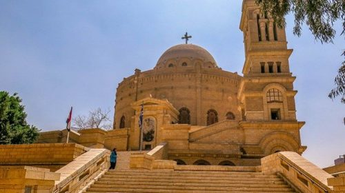 This Church of St George is Built Above a Roman Tower (Coptic Cairo)